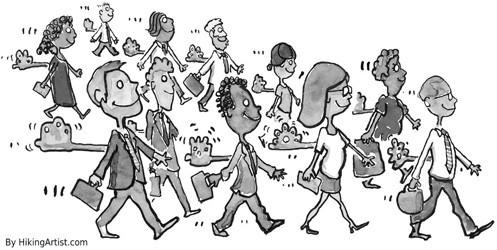 学生劳动场面的简笔画-招聘旺季到 了解 新生代 求职大学生不容易